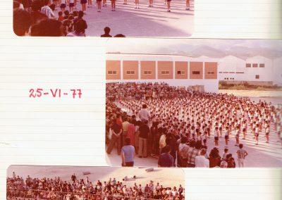 junio 1977 fin curso parroquia construida