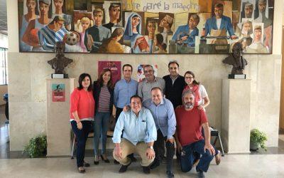 Miguel Canino (SDB), delegado inspectorial de escuelas, visita Salesianos Juan XXIII