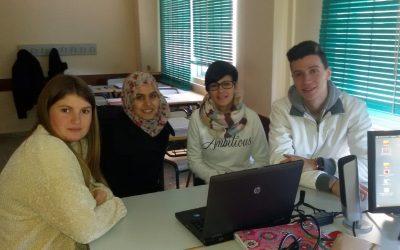 Un grupo de alumnos del segundo curso del Ciclo de Gestión Administrativa participan en el concurso Generación Euro