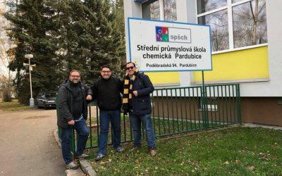 Tres profes de Salesianos Juan XXIII en Pardubice (República Checa)