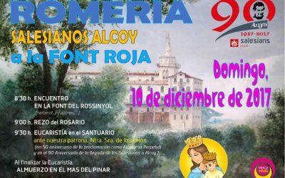 Los Salesianos de Alcoy celebramos el domingo la tradicional romería a la Font Roja
