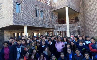 Els alumnes d'ESO visiten a la gent gran de l'asil de Sant Josep