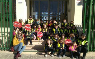 Los alumnos de 2° de primaria participan en los cursos de educación vial organizados por la policía local