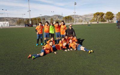 El equipo alevín de Futbol 8, ¡Campeón de Liga!
