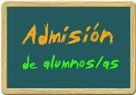 Publicado el calendario y el proceso de admisión de alumnos/as