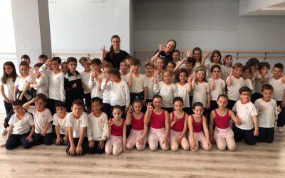 1º y 2º de primaria realiza una visita a la academia A3 Danza