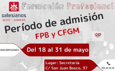 El 31 de mayo finaliza el periodo de admisión de nuevos alumnos de FP