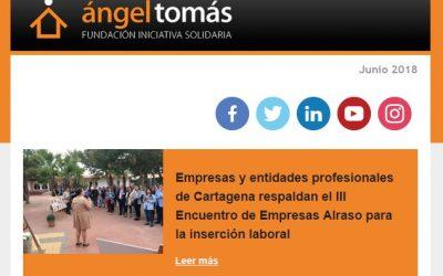 Publicado el boletín de junio de la Fundación Ángel Tomás