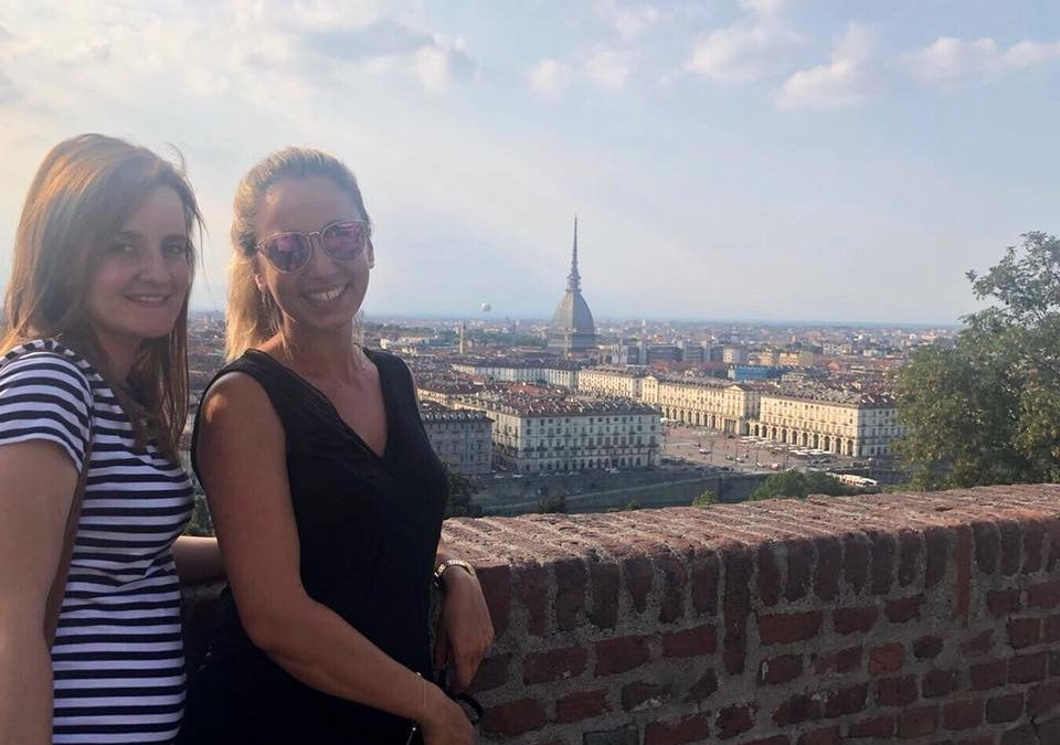 Sandra y Bárbara de peregrinación por los lugares de Don Bosco