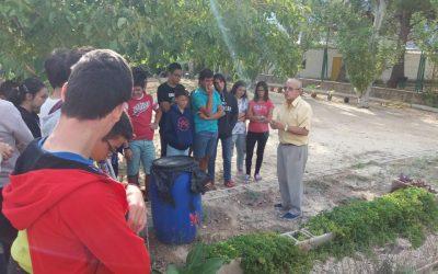 Els alumnes de 3er ESO coneixen els sistemes i tècniques de l'agricultura tradicional