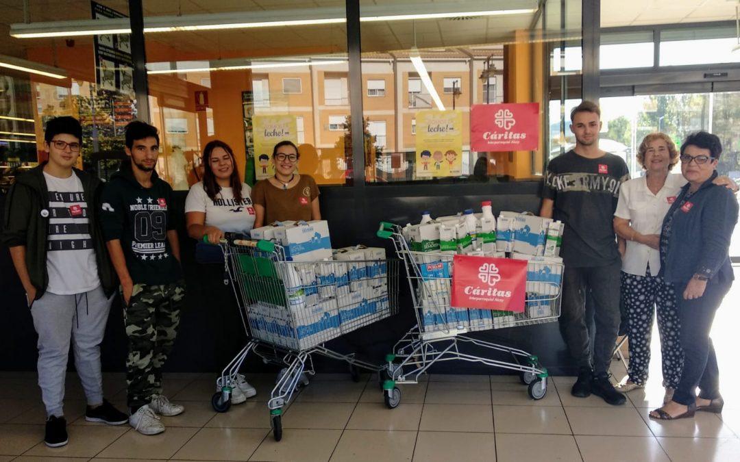 Gran éxito de la segunda campaña «somos de leche» de Cáritas Alcoy