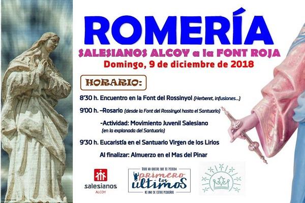 El 9 de diciembre, Salesianos Alcoy de romería a la Font Roja