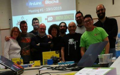 Encuentro sobre robótica educativa y ArduinoBlocks en Madrid
