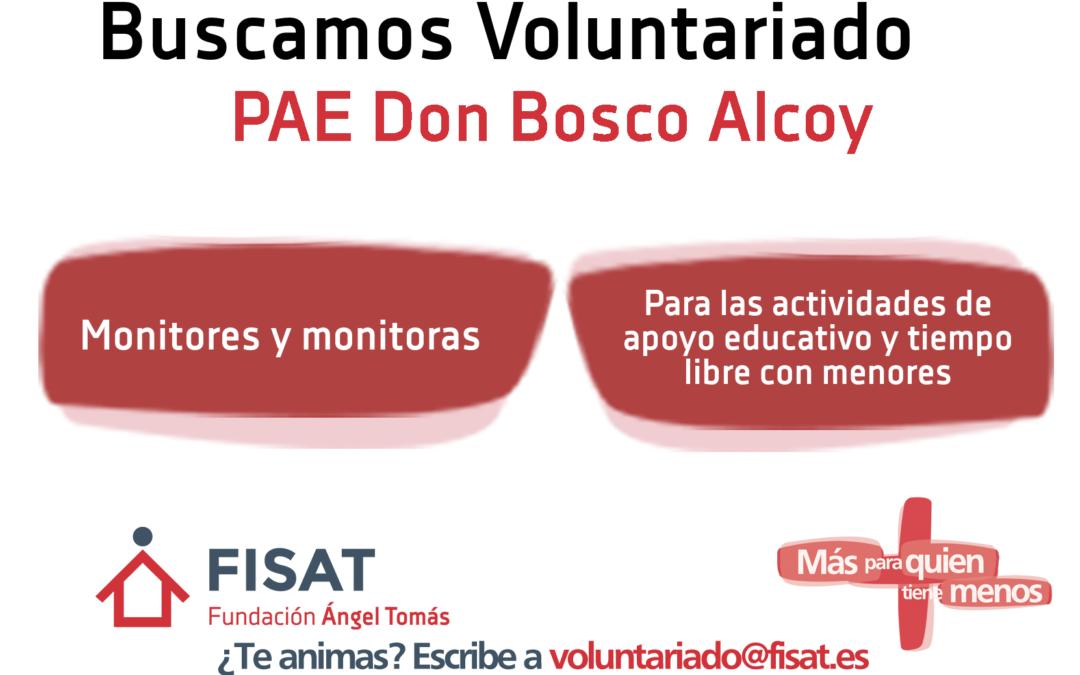 El proyecto de apoyo educativo Don Bosco de Alcoy necesita voluntarios
