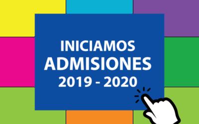 Publicado el calendario de admisión de alumnos para el 2019-2020