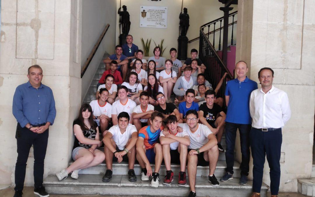 Els alumnes de 3er. ESO del Joan23 visiten l'Ajuntament