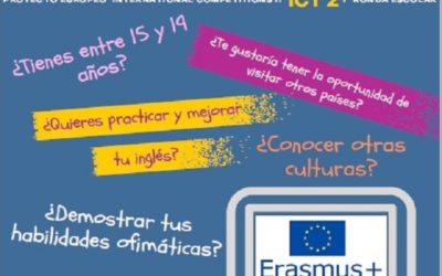 Abierto el plazo para participar en en ICT2 Erasmus+