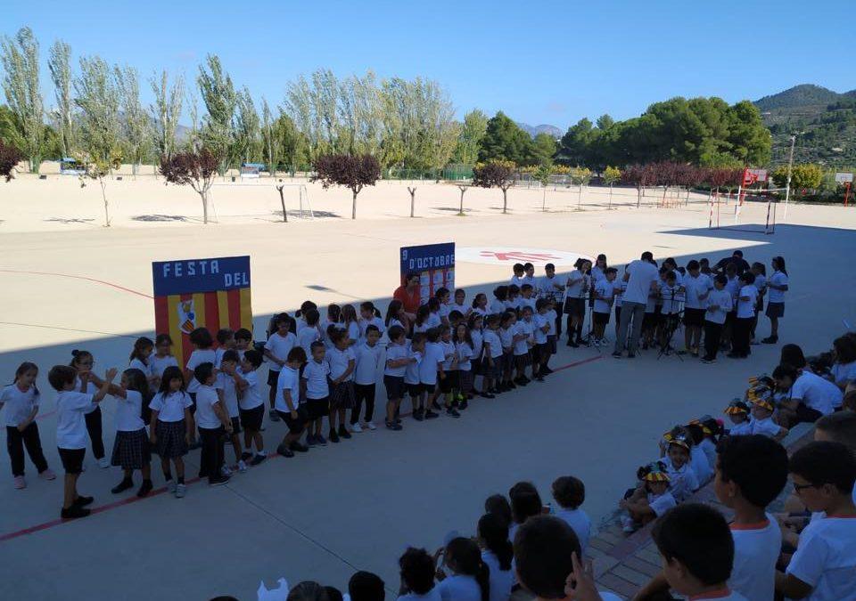 Els alumnes d'infantil i primària homenatgen Jaume I