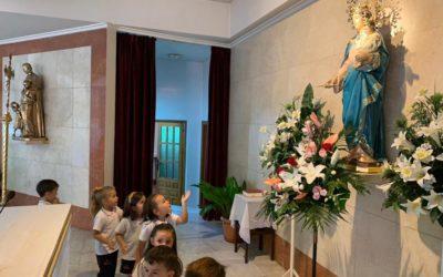 Los alumnos de infantil visitan a María Auxiliadora