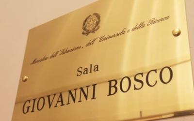 Una sala del Ministerio de Educación de Italia dedicada a D. Bosco