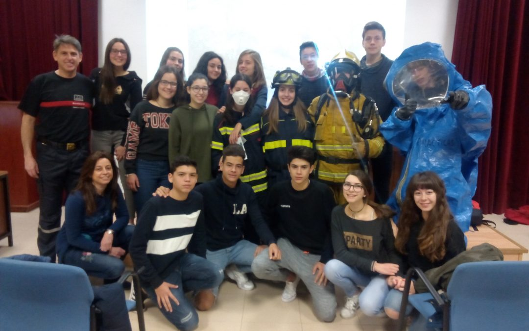 Actividad Erasmus+ «A day in the life of a firefighter»