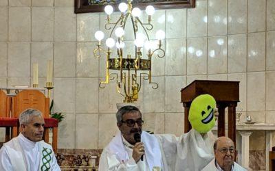 Chocolatada después de la Eucaristía en honor a Don Bosco
