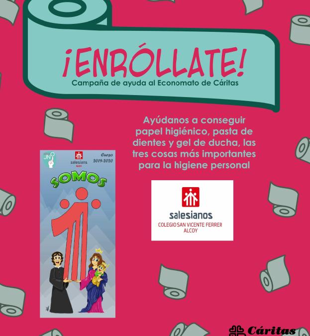 Campaña «Enróllate» de Cáritas Alcoy
